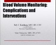 Blood Volume Monitoring: Interventions and Complications