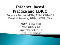 Evidence-Based Practice and KDIGO