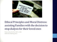 Ethical Principles and Moral Distress: Assisting Families with the Decision to Stop Dialysis for Their Loved Ones - A Case-Based Approach
