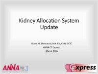 Kidney Allocation System Update