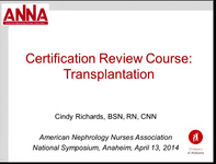 Certification Review Course: Transplant