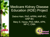 Medicare Kidney Disease Education Project