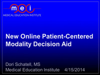 New Online Patient-Centered Dialysis Decision Aid