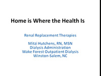 Home Is Where the Health Is: Improving Our Knowledge and Skills in Home Modalities