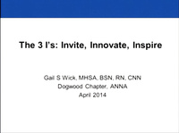 The 3 I's: Invite, Innovate, Inspire
