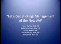 Let's Get Sticking: Management of the New Arteriovenous Fistula