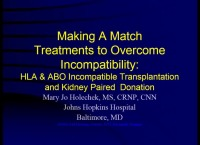 Making a Match: Treatments to Overcome Transplant Incompatibility