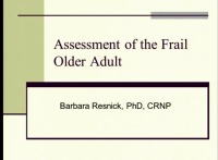 Assessment of the Frail Elderly