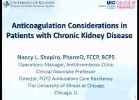 Anticoagulant Use in CKD