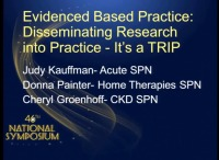 Evidence-Based Practice: Disseminating Research -- It's a TRIP