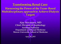 Transforming Renal Care: Harnessing the Power of Team-Based Multidisciplinary Approach to Achieve Dialysis Targets