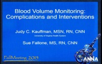 Blood Volume Monitoring