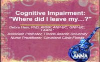 Cognitive Impairment: Where did I leave my... ?
