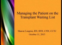 Transplant: Managing the Waiting List