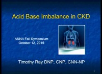 Acid Base Imbalance in the CKD Population