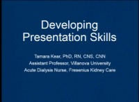 Developing Presentation Skills