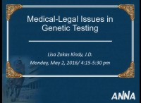 Medical-Legal Issues in Genetic Testing