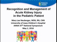 Recognition and Management of Acute Kidney Injury in the Pediatric Patient