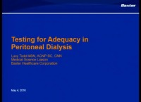 Testing for Peritoneal Dialysis Adequacy