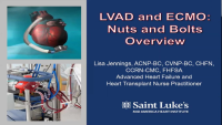 LVAD/ECMO: Nuts and Bolts