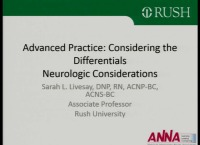 Advanced Practice: Considering the Differentials - Neurology – Differential Diagnosis