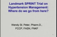 Landmark SPRINT Trial on Hypertension Management: Where Do We Go from Here?