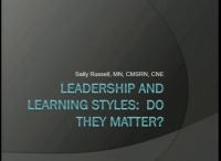 Leadership and Learning Styles: Do They Matter?