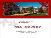 Kidney Paired Donation Registry