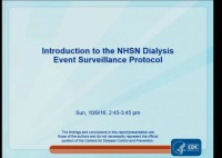 Introduction to the NHSN Dialysis Event Surveillance Protocol