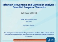 Infection Prevention in Hemodialysis: Implementing Best Practices and Becoming an Infection Prevention Advocate: Elements of an Effective Infection Prevention Program