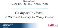 Go Big or Go Home: A Personal Journey to Policy Power