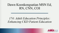 Adult Education Principles: Enhancing CKD Patient Education