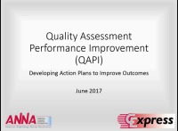 Quality Assessment Performance Improvement (QAPI) - Developing Action Plans to Improve Outcomes