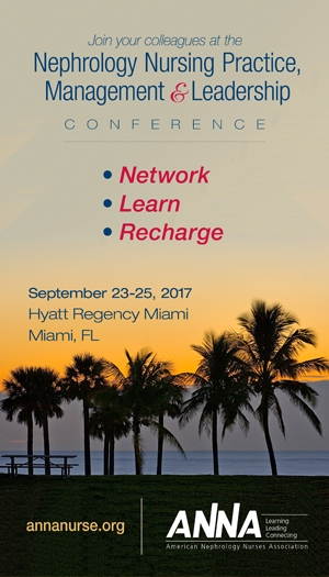 Nephrology Nursing Practice, Management, & Leadership Conference 2017