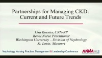 Partnerships for Managing CKD: Current and Future Trends