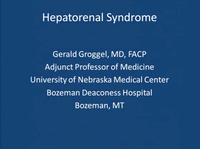 Liver-Renal Connection: Hepatorenal Syndrome
