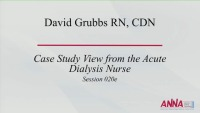 Interdisciplinary Management of the Critically Ill Renal Patient - Case Study View from the Acute Dialysis Nurse