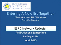 Administration: ESRD Network Redesign and the Impact on Facilities