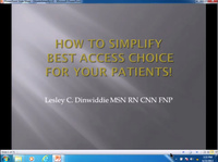 How to Simplify Best Access Choice for Your Patients