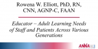 Educator - Adult Learning Needs of Staff and Patients Across Various Generations