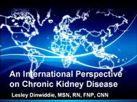 An International Perspective on Chronic Kidney Disease