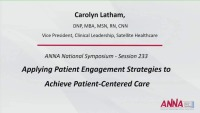 Applying Patient Engagement Strategies to Achieve Patient-Centered Care