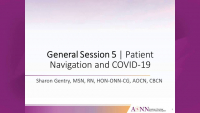 General Session 5 | Patient Navigation and COVID-19