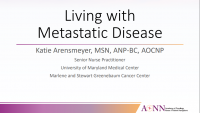 General Session 6 | Treatments, Support and Quality of Life for Patients with Metastatic Disease