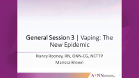 General Session 3 | Vaping the New Epidemic