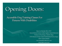 Opening Doors: Accessible Dog Training Classes for Persons with Disabilities