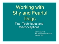 Working with Shy & Fearful Dogs: Tips, Techniques & Misconceptions