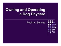 Owning and Operating a Doggie Daycare
