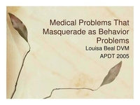 Medical Problems that Masquerade as Behavior Problems - The Remix