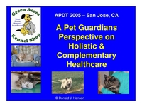 A Pet Guardian's Perspective on Holistic and Complimentary Healthcare